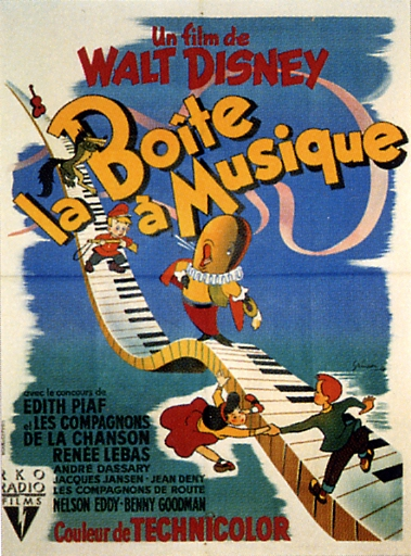 """L'affiche du film """"La Boîte à Musique"""""""