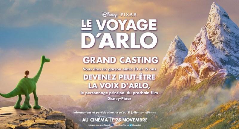 Affiche pour le casting du Voyage d'Arlo